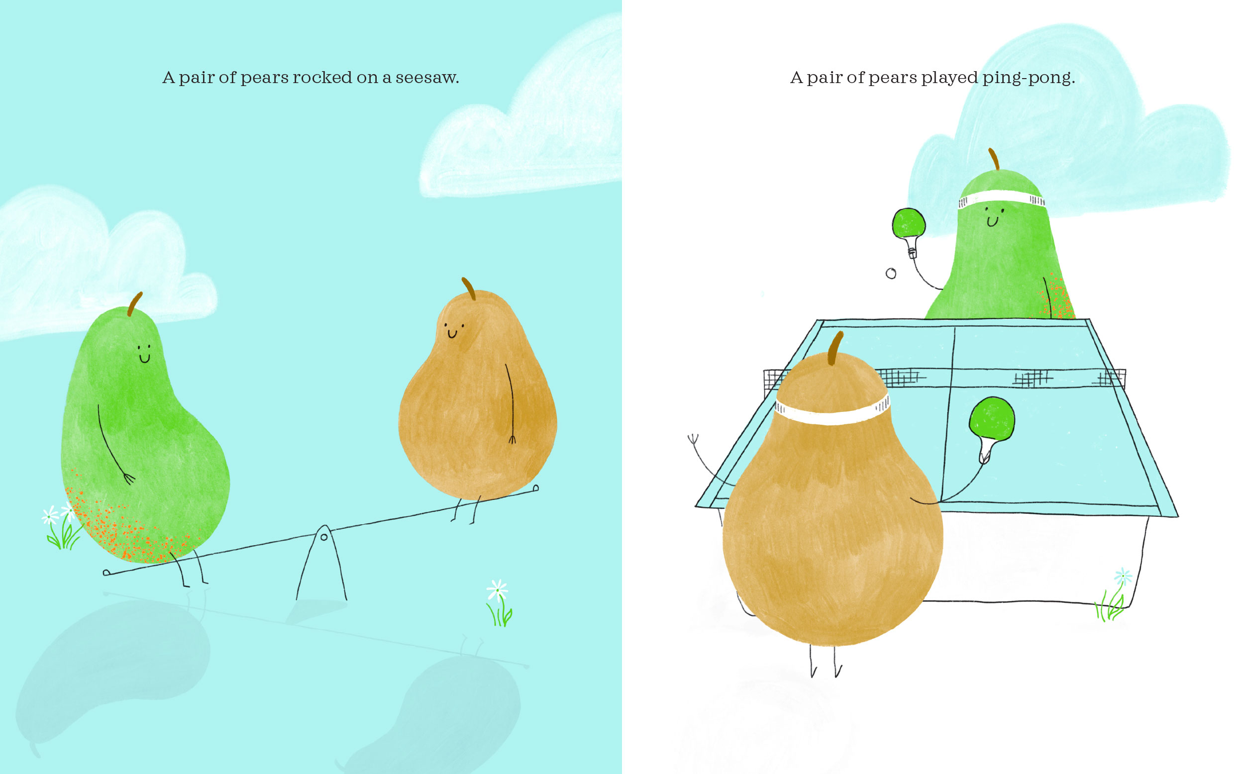 A Pair of Pears and an Orange Picture Book